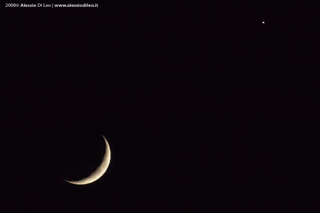 Fotografare la Luna congiunzione Venere