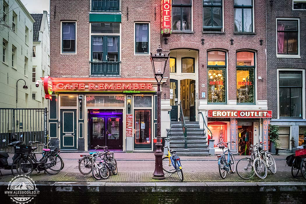 Amsterdam red lights district
