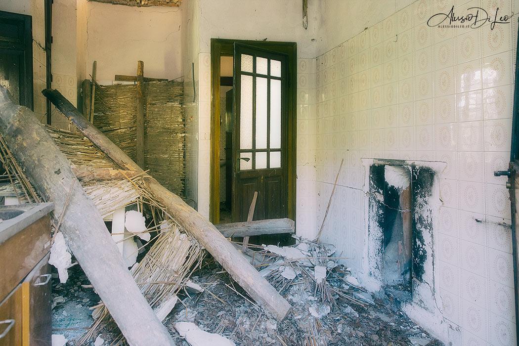 Villa del cavaliere abbandonata