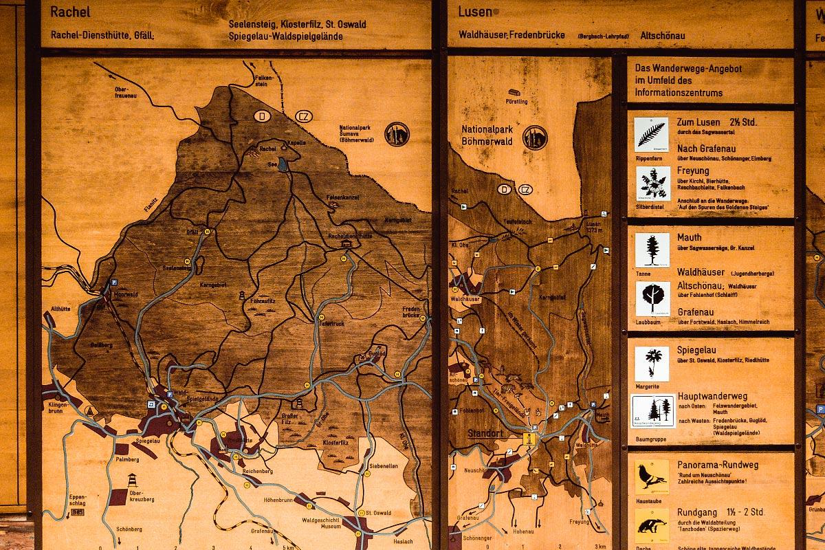 Bayerischer wald mappa