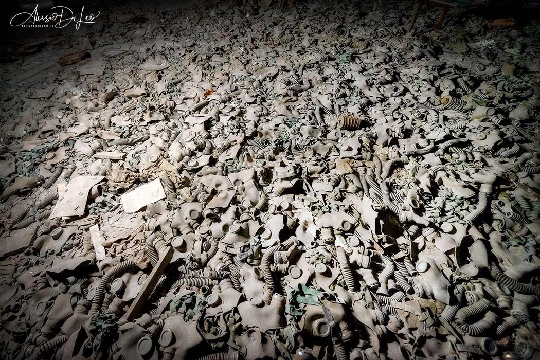 Chernobyl maschere antigas