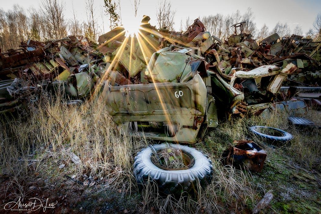 Discarica mezzi contaminati Chernobyl