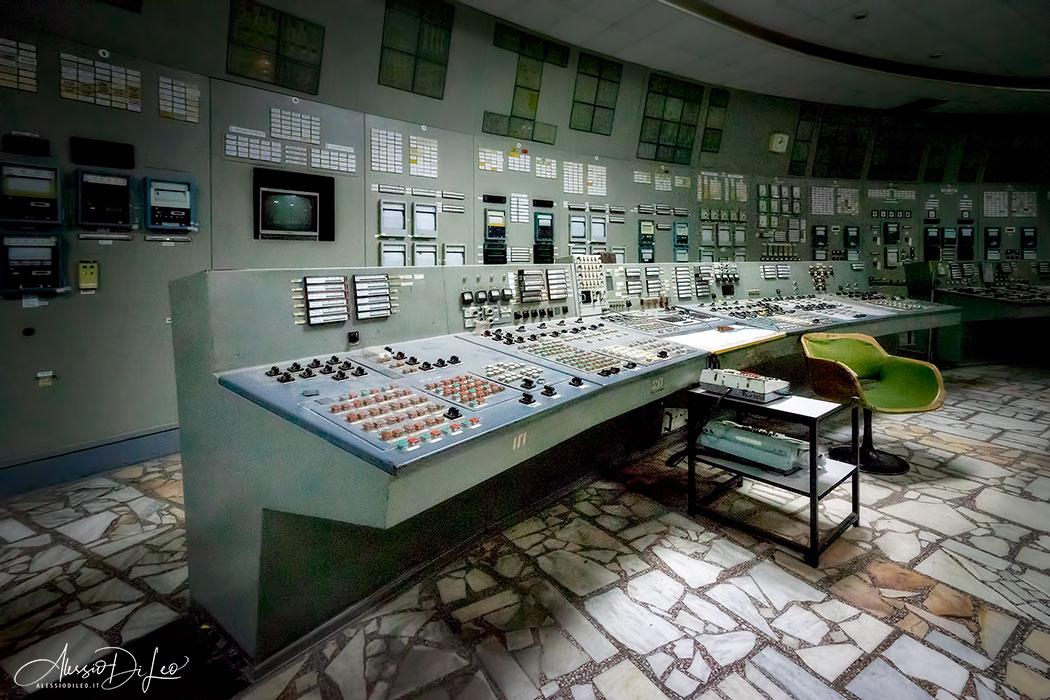 Sala controllo reattore Chernobyl