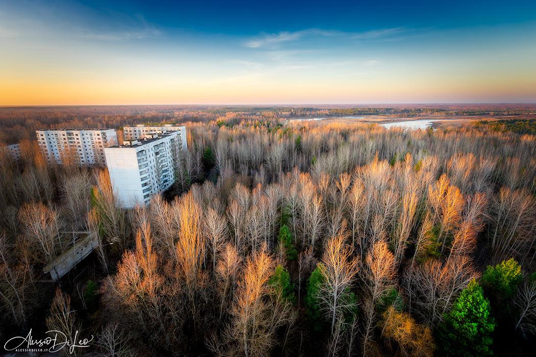 Tramonto tetti Pripyat