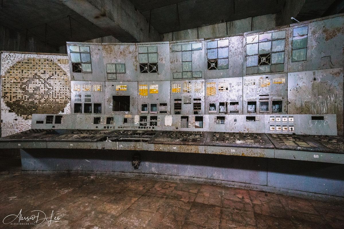 Sala controllo reattore quattro