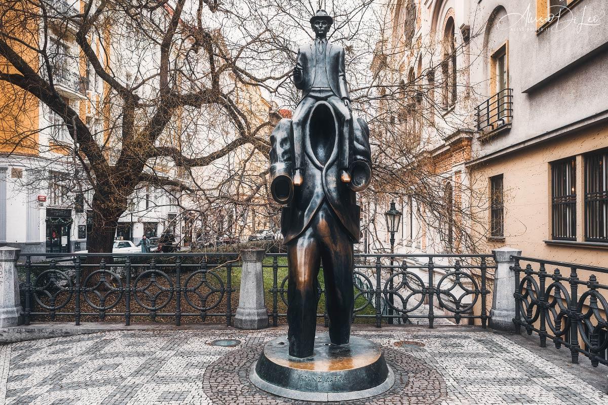 statua Franz Kafka